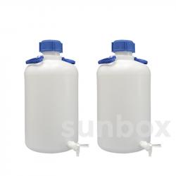 25L Flasche Engehals mit Hahn