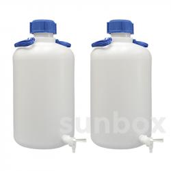 50L Flasche Engehals mit Hahn