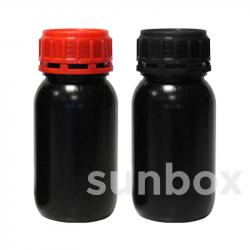250ml UN homologierte SCHWARZE Flasche