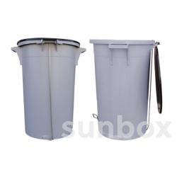 80L Mülleimer mit Trethebel
