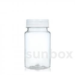 100ml PET Pillendosen mit Scharnierdeckel