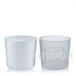 20ml Dosierglas mit Graduierung. Weiß und naturel