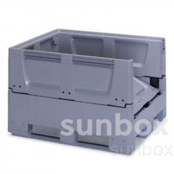 616L klappbare Box-Palette mit 3 Kufen