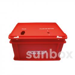 Roter Batteriekasten (40x30x23,5cm)